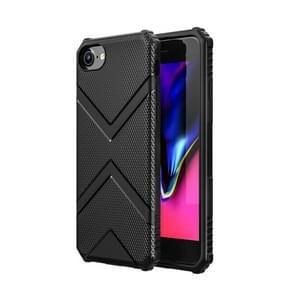 Voor iPhone SE 2020 Diamond Shield TPU Drop Protection Case(Zwart)