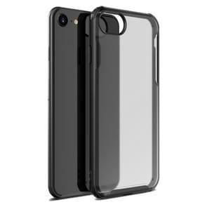 Voor iPhone SE 2020 Vierhoekschokbestendige TPU + PC Beschermhoes(Zwart)