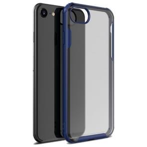 Voor iPhone SE 2020 Vierhoekschokbestendige TPU + PC Beschermhoes (Navy Blue)