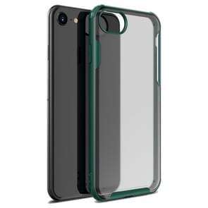 Voor iPhone SE 2020 Vierhoekschokbestendige TPU + PC Beschermhoes(Groen)