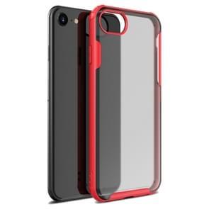Voor iPhone SE 2020 Vierhoekschokbestendige TPU + PC Beschermhoes(Rood)