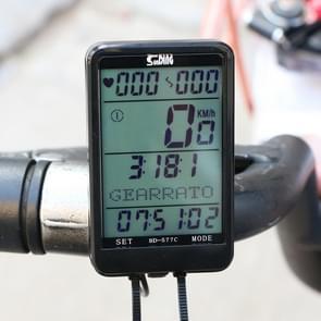 SUNDING SD-577C Cycling Computer LCD Backlight Waterproof Wireless Stopwatch MTB Fiets Kilometerteller Stopwatch Fiets Snelheidsmeter
