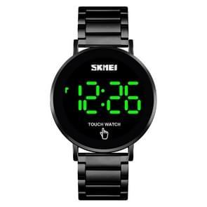 SKMEI 1550 Eenvoudige en stijlvolle LED Touch Screen Mannen Kijken waterdicht roestvrij staal met elektronisch horloge (zwart)