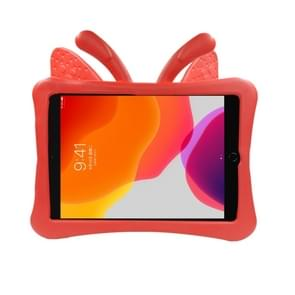 Voor iPad 10.2(2019)/10.5 Butterfly Bracket Style EVA Children Falling Proof Flat Cover beschermende Shell/Case(Red)