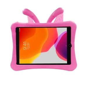 Voor iPad 10.2(2019)/10.5 Butterfly Bracket Style EVA Children Falling Proof Flat Cover beschermende Shell/Case(RoseRed)