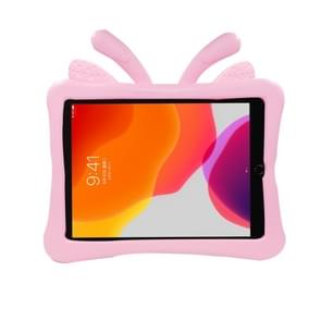 Voor iPad 10.2(2019)/10.5 Butterfly Bracket Style EVA Children Falling Proof Flat Cover protective Shell/Case(Pink)