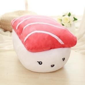 Emoji pluche  schattige pop Sushi gevuld decoratieve PP katoen kussen met kussen invoegen  grootte: 44x30x35cm(Red)