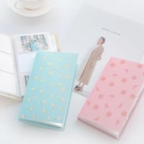 96 Slots ID Holders Cute cartoon card book star large capacity business card clip ticket collection book Card Stocks