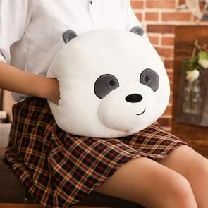 Cute Cartoon Bare Bears Plush Pillow Stuffed Bear Panda Hand Warmer Cushion, Size: 35cm*30cm, Color:Panda