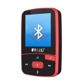 New Arrival Original RUIZU X50 Sport Bluetooth MP3 Player 8gb Clip Mini with Screen Support FM,Recording,E-Book,Clock,Pedometer Red 8GB