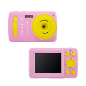 2.4 Inch 16MP 720P Mini LSR Cam Digital Camera for Kids Baby Cute Cartoon Multifunction Toy Camera Children Birthday(Pink)