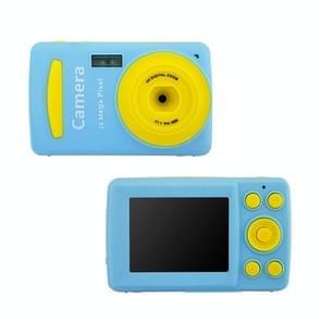 2.4 Inch 16MP 720P Mini LSR Cam Digital Camera for Kids Baby Cute Cartoon Multifunction Toy Camera Children Birthday(Blue)