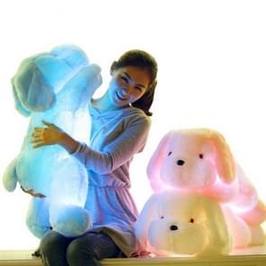 50 CM Sensing Switch Colorful Luminous LED Light Plush Pillow Cushion Kids Toys(Pink)
