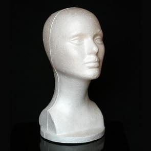 Female Model Head Styrofoam Hat Glasses Hair Wig Display Mannequin Stand