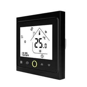 16A WiFi Thermostat with Touch Screen LCD Display Weekly Programmable Temperature Controller for Home Electric Floor Heating(Black)