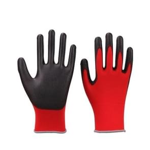 2 Pairs Red Yarn Black Latex-nylon Nitrile Anti-static Work Safety Gloves Mechanic Working Gloves