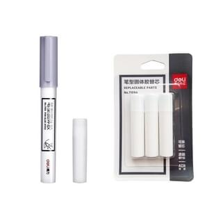 10PCS  Deli Glue Stick Cute Stationery Pen Solid Stick Refills Strong Adhesion High Viscosity Glue Office School Supplies