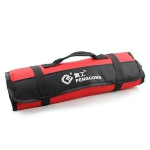 Multi-function Waterproof Oxford Carrying Folding Roll Bags Portable Storage Tool Bag(Red)
