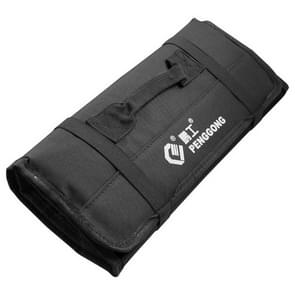 Multi-function Waterproof Oxford Carrying Folding Roll Bags Portable Storage Tool Bag(Black)