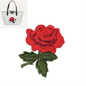 10 PCS Rose Series Embroidery Stickers DIY Dress Cheongsam Patch Stickers(Red)