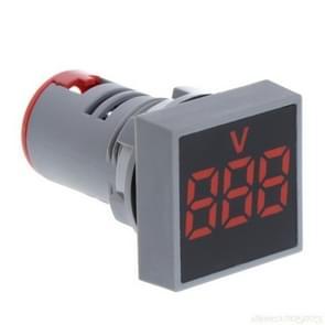 AD101-22VMS Mini AC 20-500V Voltmeter Square Panel LED Digital Voltage Meter Indicator(Red)