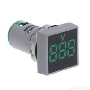 AD101-22VMS Mini AC 20-500V Voltmeter Square Panel LED Digital Voltage Meter Indicator(Green)