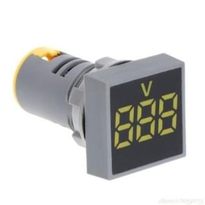 AD101-22VMS Mini AC 20-500V Voltmeter Square Panel LED Digital Voltage Meter Indicator(Yellow)