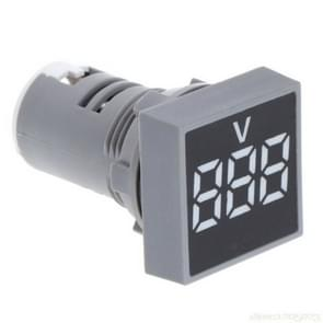 AD101-22VMS Mini AC 20-500V Voltmeter Square Panel LED Digital Voltage Meter Indicator(White)