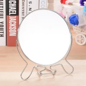 Creative Rotaing Double Sided Mirror Stainless Steel Makeup Cosmetic Mirror Decor Gift, Size:6 inch