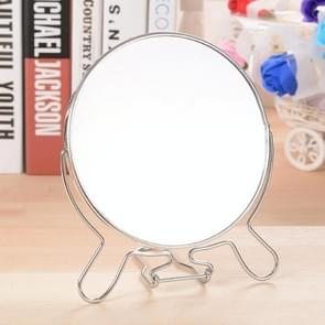 Creative Rotaing Double Sided Mirror Stainless Steel Makeup Cosmetic Mirror Decor Gift, Size:8 inch
