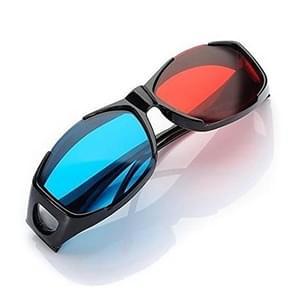 Red Blue 3D Glasses Anaglyph Framed 3D Vision Glasses for Game Stereo Movie Dimensional Glasses Plastic Glasses