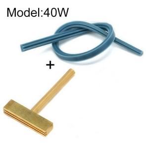 Alle kopervloeistof kristalkabel lasgereedschap T-vormige soldeerijzeren kop  model: 40W