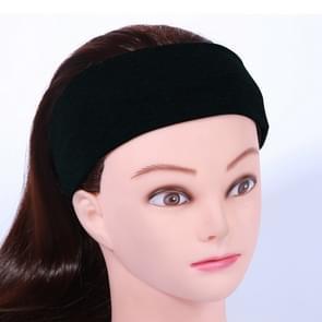 Yoga Fitness Hair Band Hoofdband  Grootte: Ongeveer 21 x 7cm (Zwart)