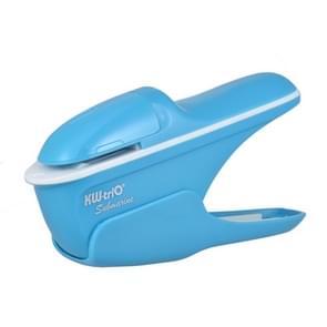 Hand-held Mini Safe Stapleless Staple Max 7 Sheets Paper Binding Machine(Blue)
