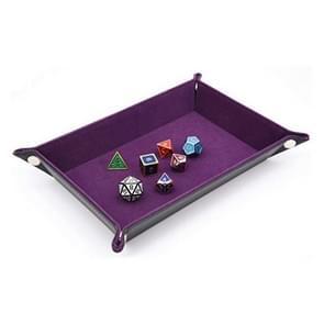 2 PC'S PU leder vouwen zeshoekige dobbelstenen spel Bar Club dobbelstenen opslag lade (paars)
