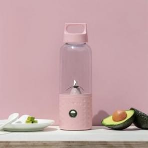 USB Mini Portable Juicer Bottle Juice Blender Lemon Vegetables Fruit Squeezers Reamers Bottle(Pink)
