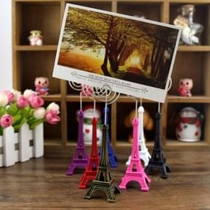 Mini Eiffel Tower Shape Desktop Statue Information Notecard Holder Photo Clip Home Art Deco Gift, Random Color Delivery