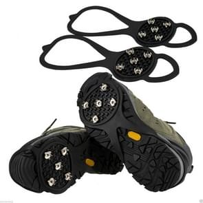 1 Pair Gourd Shape Rubber 5 Teeth Ice Claw Outdoor Non-slip Shoes Covers for Ice Snow Ground