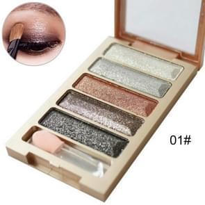 Glitter oogschaduw palet waterdichte rokerige naakt make-up Kit glans oogschaduw pallete cosmetische pigment make-up ogen tinten set (1)