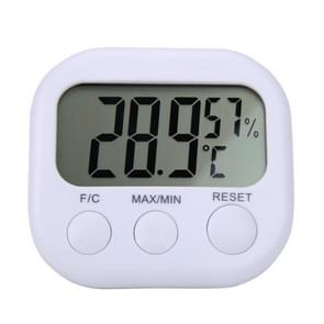 Digital LCD Indoor Thermometer Hygrometer Gauge Clock Temperature Humidity Meter