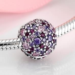 925 sterling zilveren ronde ingelegde steen kralen gesp clips armband sieraden bedeltjes