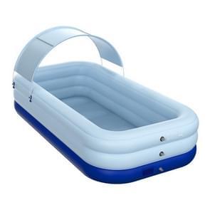 PVC Shade Wireless Automatische Opblaasbare Zwembad Huishoudelijke Kinderen Zwembad Groot buiten plastic zwembad met schuur  grootte: 2.1m (Blauw)