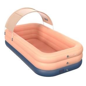 PVC Shade Wireless Automatische Opblaasbare Zwembad Huishoudelijke Kinderen Zwembad Groot buiten plastic zwembad met schuur  grootte: 2.6m (Roze)
