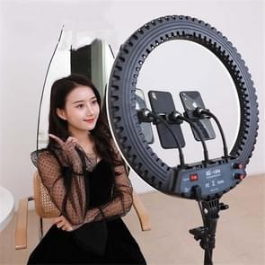 HQ-18N 18 inch 45cm LED Ring Vlogging Fotografie Video Lights Kits met Afstandsbediening & Telefoonklem & 2 1 m Tripod Mount  EU Plug