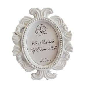 2 PCS Floral Photo  Round  Picture Frame Holder Wedding Home Decor(White)