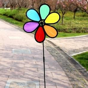 Outdoor Cloth Black Side Six Color Windmill Children Toys Garden Decoration