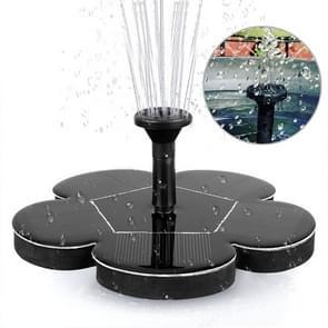 Outdoor Spuiten van zonne-energie Miniatuur Fontein Brushless Water Pump Dprinkler Tuin Decoratie (Zwart)