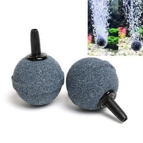 100 PCS Bubble Stone voor Aquarium Tank Beluchterpomp  diameter:25mm (Zwart bolvormig)