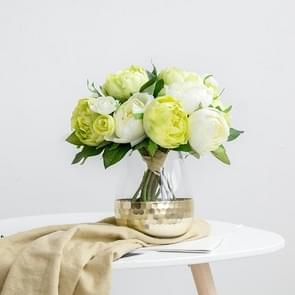 Hand Gilded Glass Vase  Home Decoration Wedding Decoration, Style:Convergent Section, Colorc:Gold