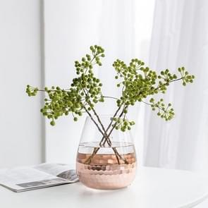 Hand Gilded Glass Vase  Home Decoration Wedding Decoration, Style:Convergent Section, Colorc:Rose Gold